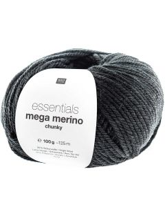 Mega Merino 100 g zwart