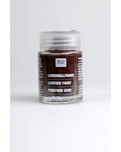 Lederverf 20 ml donkerbruin