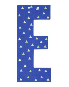 Letter voor slinger 9 x 15 cm E
