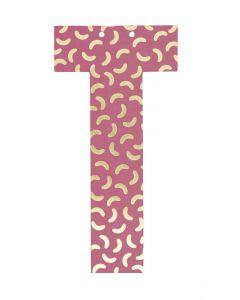 Letter voor slinger 9 x 15 cm T