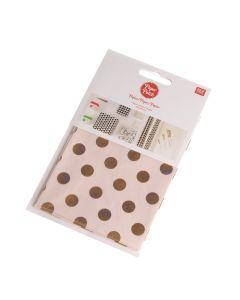 PaperPatch papier 30 x 42 cm 3 st. dots rosé/roze