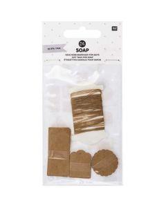 Labels zeep 30 stuks kraft