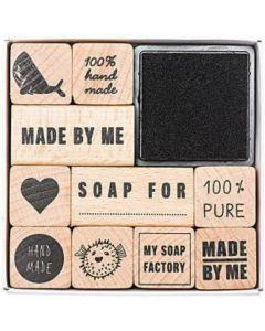 Stempelset zeep 10 stuks