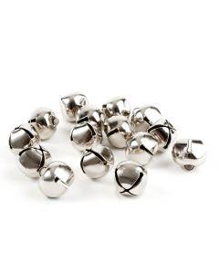 Belletjes 18 mm 15 stuks zilverkleurig
