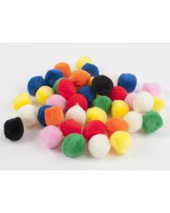 Pompon 25 mm 40 stuks assortiment kleuren