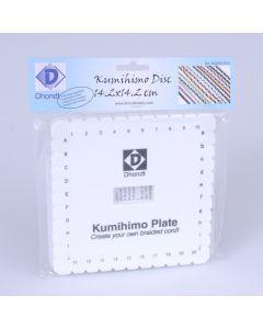 Kumihimo schijf vierkant 14 cm
