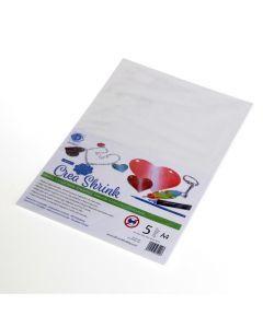 Crea Shrink A4, 5 stuks wit