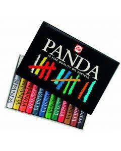 Panda oliepastels 12 stuks