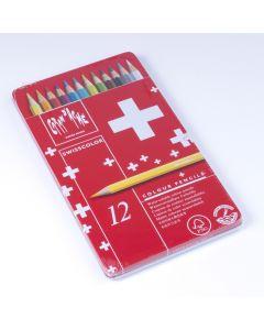 Caran D'Ache Swisscolor kleurpotloden 12 stuks