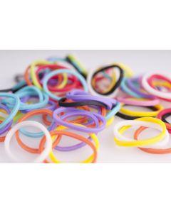 Rainbow Loom Bands 600 stuks 24 C-clips opaak mix