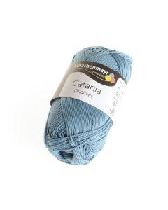Catania garen katoen 50 g 125 m kachelblauw