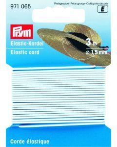 Elastische koord 1,5 mm 3 m wit