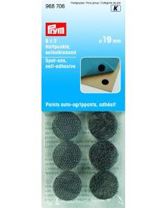 Klittenband noppen zwart 18 mm 16 stuks
