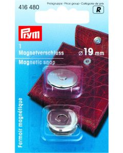 Magneetsluiting 19 mm 1 stuk zilverkleurig