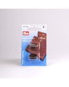 Magneetsluiting 19 mm 1 stuk bronskleurig
