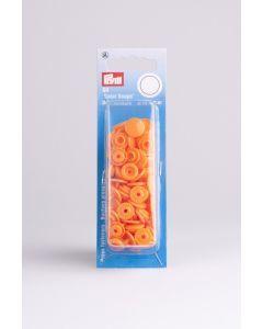 Color Snaps rond 30 stuks 12,4 mm oranje