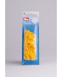 Color Snaps ster 30 stuks 12,4 mm geel