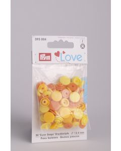 Prym Love Color Snaps 12,4 mm 30 stuks geel mix
