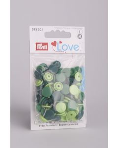 Prym Love Color Snaps 12,4 mm 30 stuks groen mix