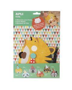 Apli Kids Dierenmaskers 6 stuks 3+