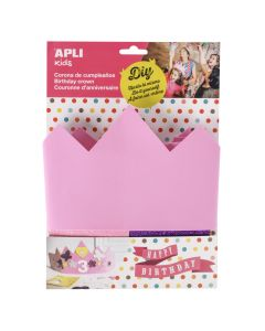 Apli Kids verjaardagskroon roze 3+