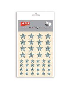 Apli stickers ster 120 stuks stardust zilver