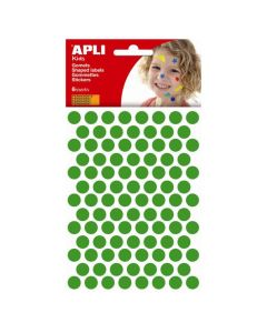 Apli stickers cirkel 10,5 mm 588 stuks groen