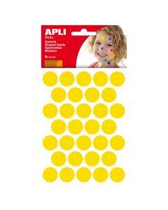 Apli stickers cirkel 20 mm 180 stuks geel