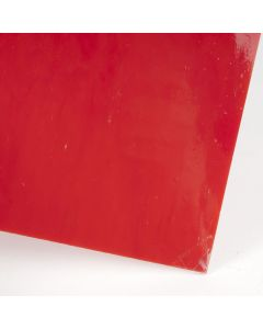 Glasplaat 3 mm COE 90 20 x 18 cm rood opaak