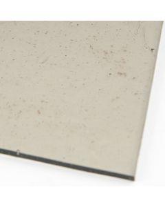 Glasplaat 3 mm COE 90 20 x 18 cm lichtgrijs transparant