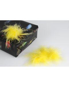 Pluimenpompon 10 stuks geel