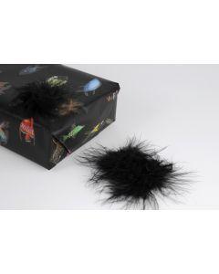 Pluimenpompon 10 stuks zwart