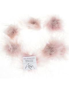 Pluimenpompon 10 stuks oudroze