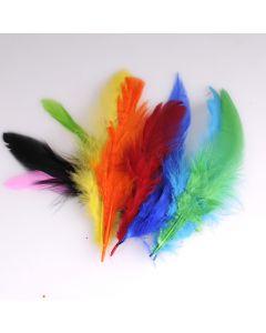 Krea Feathers pluim haan 10 cm 10 stuks assortiment