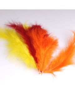Krea Feathers pluim marabou 10 cm 12 stuks mix geel
