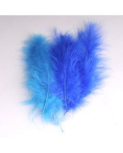 Krea Feathers pluim marabou 10 cm 12 stuks mix blauw