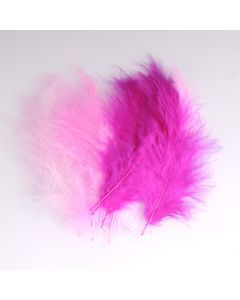 Krea Feathers pluim marabou 10 cm 12 stuks mix roze