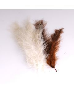 Krea Feathers pluim marabou 10 cm 12 stuks mix bruin
