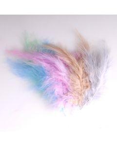 Krea Feathers pluim marabou 10 cm 12 stuks mix pastel