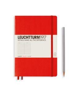 Leuchtturm1917 notitieboek medium A5 gelijnd rood