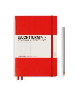Leuchtturm1917 notitieboek medium A5 gestippeld rood