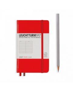 Leuchtturm1917 notitieboek pocket A6 gelijnd rood