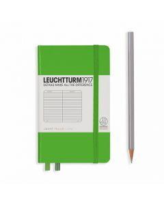 Leuchtturm1917 notitieboek pocket A6 gelijnd felgroen