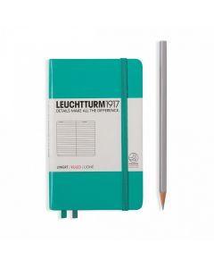 Leuchtturm1917 notitieboek pocket A6 gelijnd emerald