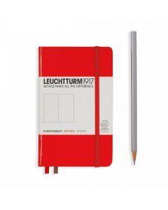 Leuchtturm1917 notitieboek pocket A6 gestippeld rood