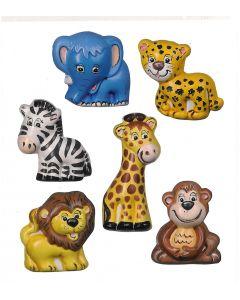 Gietvorm 6 safaridieren 7-8 cm
