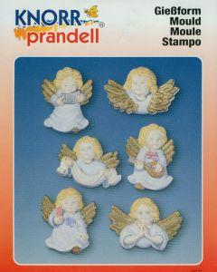 Gietvorm 6 engelen 7 cm