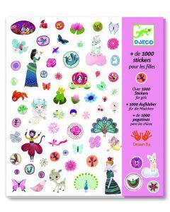 Djeco stickers voor meisjes 1000 stuks
