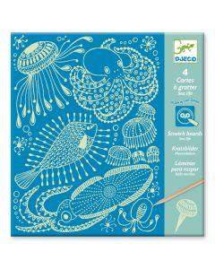 Djeco kraskaarten glow Sea Life 6-11 jaar