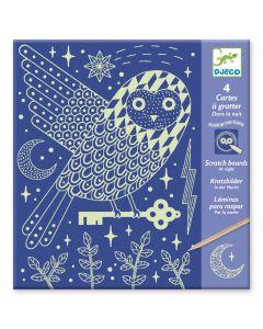 Djeco kraskaarten glow At Night 6-11 jaar